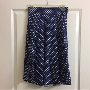 Pre-owned Womens Blue Polka Dot Skirt- Small